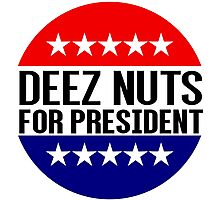 Deez Nuts For President Photographic Print