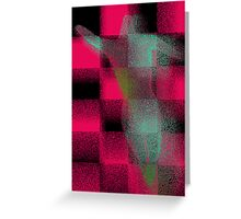 Body Art in Pink, Blue and Green Greeting Card