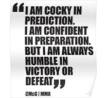 Conor McGregor - Quotes [Humble] Poster