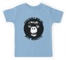 Everything's More Fun With Monkeys! (V2) Kids Tee
