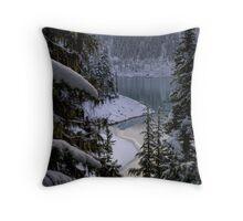 Lesser Garibaldi Lake in the Snow Throw Pillow
