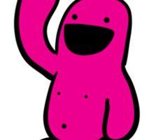 Pink Happyman iPhone Case Sticker