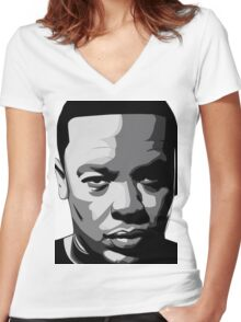 DR DRE | 2015 | ART Women's Fitted V-Neck T-Shirt