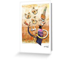 Cat Juggler Greeting Card