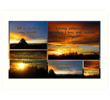 Morning Affirmations featured in The World As We See It or as we missed it. Art Print