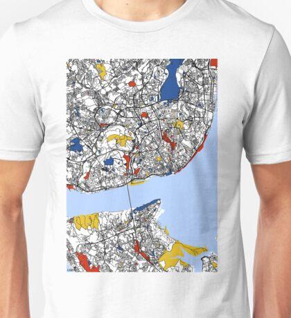 Lisbon Mondrian map Unisex T-Shirt