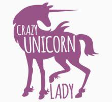 Crazy Unicorn lady in purple Baby Tee