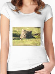 Juvenile Wombat Women's Fitted Scoop T-Shirt