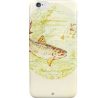 The Tale of Mister Jeremy Fisher Beatrix Botter 1906 0048 Bad Tasting Mackintosh Trout Spit Out iPhone Case/Skin