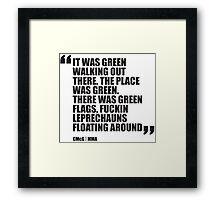 Conor McGregor - Quotes [Leprechauns] Framed Print