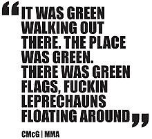 Conor McGregor - Quotes [Leprechauns] Photographic Print