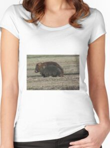 Wombat and Young Women's Fitted Scoop T-Shirt
