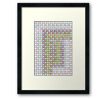 Sodapop Checker Framed Print