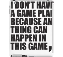 Conor McGregor - Quotes [Game Plan] iPad Case/Skin