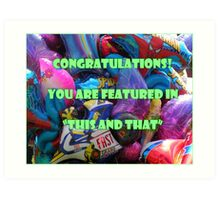 """Feature """"This and That"""" banner challenge Art Print"""