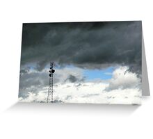 An angry sky Greeting Card