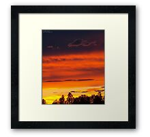 Rooftop Sunset 4 Framed Print