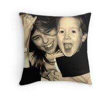 Sibling Moments Throw Pillow