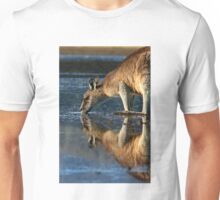 Eastern Grey Kangaroo Drinking Unisex T-Shirt