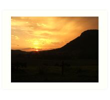 urbenville sunset by the crown mtn  Art Print