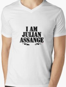 I AM JULIAN ASSANGE Mens V-Neck T-Shirt