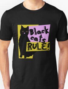 Black cats RULE Unisex T-Shirt
