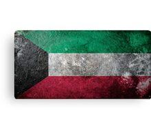 Kuwait Grunge Canvas Print
