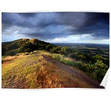 Malvern Hills: July Evening Poster