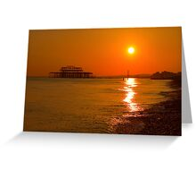 Burnished Sunset - Brighton - England Greeting Card