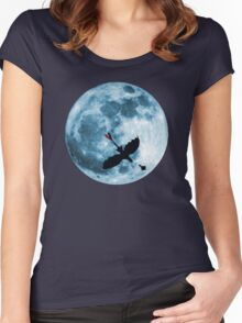 Full Moon Flight Women's Fitted Scoop T-Shirt