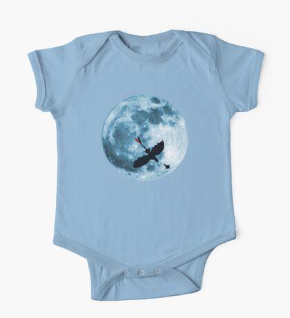 Full Moon Flight One Piece - Short Sleeve