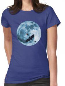 Full Moon Flight Womens Fitted T-Shirt