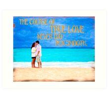 Shakespeare Quote On True Love Art Print