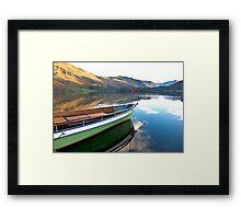 Sailing on Ullswater. Framed Print