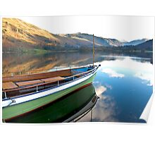 Sailing on Ullswater. Poster