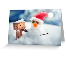 Danbo's First Snowman Greeting Card