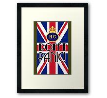 Don't Panic - Home Guard Framed Print