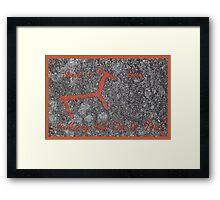 Santa´s Deer for Christmas Framed Print