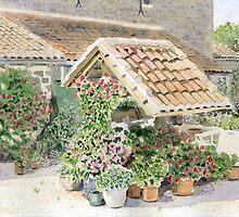 Flower-covered Well by ian osborne
