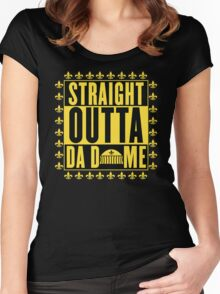 Straight Outta Da Dome Women's Fitted Scoop T-Shirt