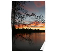 Lake Faussey Point Sunrise Poster