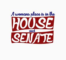 A womans place is in the house and the senate feminist Womens Fitted T-Shirt