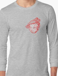 Digital Heart (Red) Long Sleeve T-Shirt