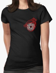 Digital Heart (Red) Womens Fitted T-Shirt