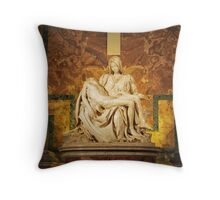 Michelangelo's Pietà - Vatican City Throw Pillow