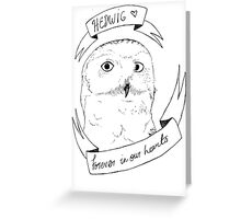Hedwig, Forever in our Hearts Greeting Card
