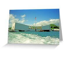 Arizona Memorial, Pearl Harbor, Honolulu, Hawaii Greeting Card