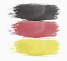 Germany Flag paint-brush Kids Tee