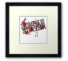 Zombie slayer Framed Print