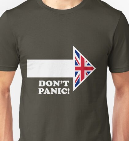 Don't Panic - Arrow Unisex T-Shirt
